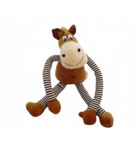 Лошадь с длинными полосатыми ногами